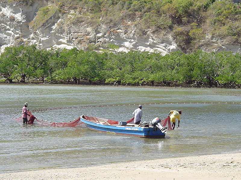 File:Fishermen at Moya beach.jpg