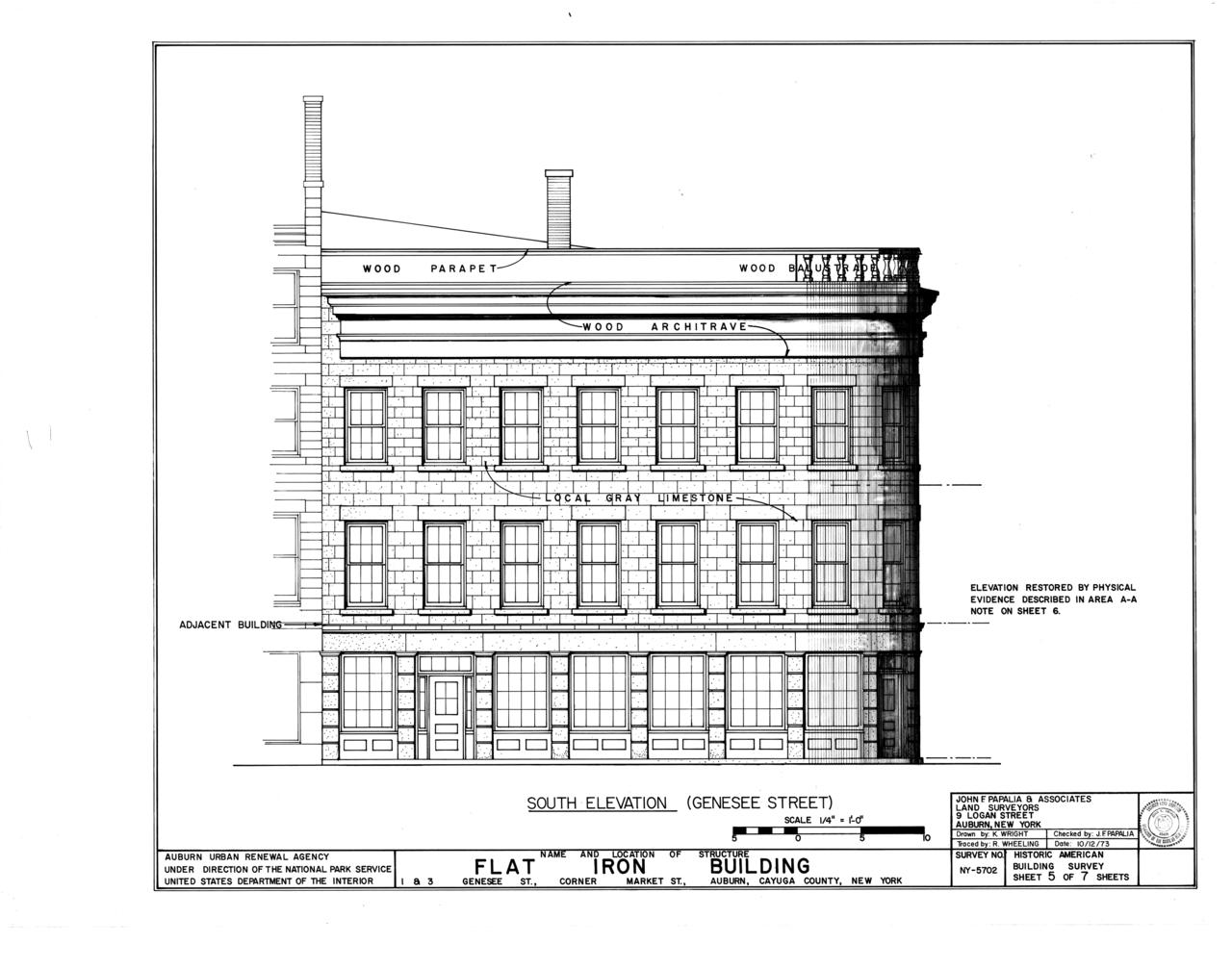 New york cayuga county - File Flat Iron Building 1 3 Genesee Street Auburn Cayuga County Ny Habs Ny 6 Aub 8 Sheet 5 Of 7 Png