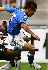 Nagatomo in azione nel 2009 con la maglia della nazionale giapponese