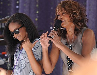 "Whitney Houston - Houston performing ""My Love Is Your Love"" with her daughter Bobbi Kristina Brown on Good Morning America, September 2, 2009"