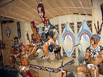 Calusa - Diorama of a Calusa chief at the FMNH