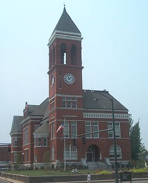 English: Old Floyd County courthouse in Rome, ...