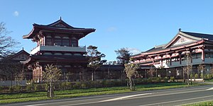 Fo Guang Shan Temple, Auckland - The temple in Flat Bush, seen from Stancombe Road.