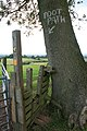 Footpath Indication on Ash Tree - geograph.org.uk - 879745.jpg