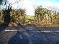Footpath crosses road - geograph.org.uk - 1659753.jpg