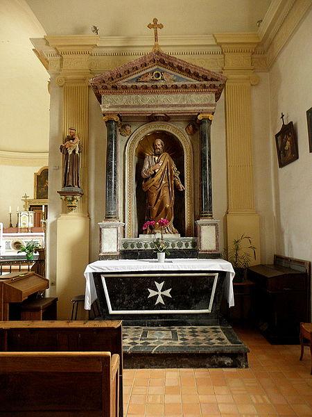 Église Sainte-Marie-Madeleine de Forcé (53). Retable de Saint-Joseph.