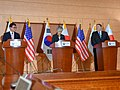 Foreign Ministers of United States, Japan, and South Korea Hold Joint Press Availability in Seoul (28915244728).jpg