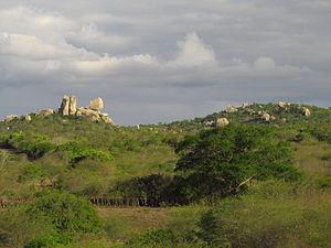 Borborema Plateau - Image: Formações rochosa da Serra da Borborema Queimadas Paraiba