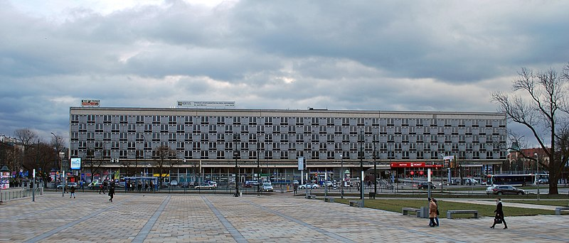 File:Former Cracovia Hotel (1960 by arch. Witold Cęckiewicz), 1 Marshal Ferdinand Foch Av, Kraków, Poland.jpg