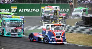 Fórmula Truck - Image: Formula Truck 2006 Interlagos Ford leads