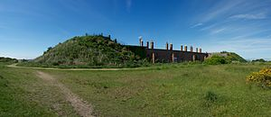 Grade II* listed buildings in Gosport - Image: Fort Gilkicker Rear View