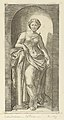 Fortitude or Strength personified by a woman standing in a nice resting her arm on a column, from 'The Virtues' MET DP854376.jpg
