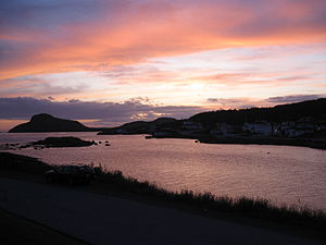 Fox Harbour, Newfoundland and Labrador - Fox Harbour at Sunset, Summer 2009