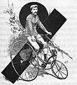 Frédéric de Civry vers 1885, en tricycle.jpg