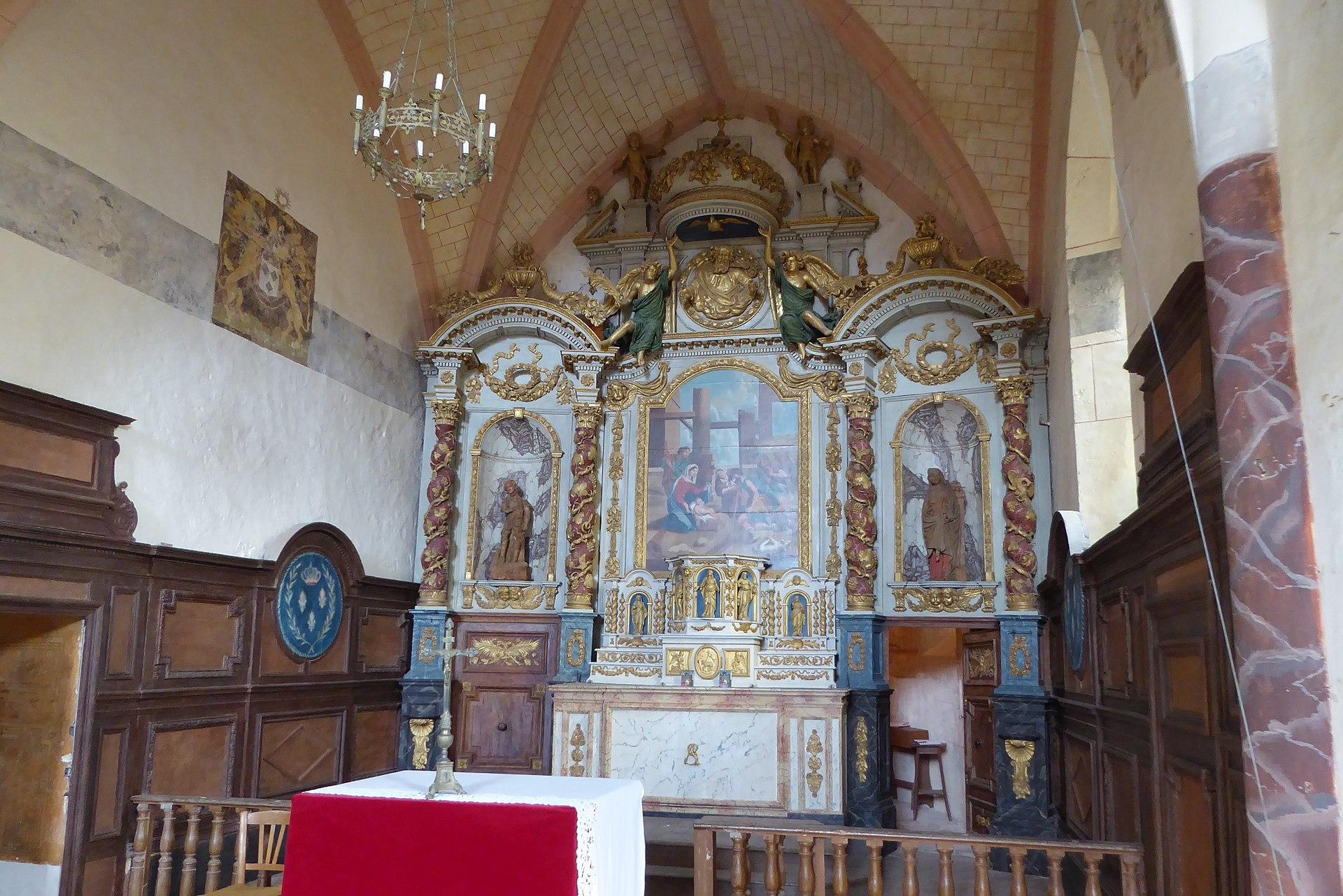 Maître-autel de l'église Saint-MartinClasséMH (1908)[1].