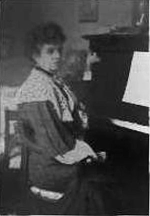 Frances Allitsen - Frances Allitsen at the piano.