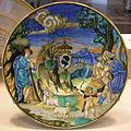 Francesco xanto avelli, nettuno che rapisce teofane e stemma pucci, 1532.JPG