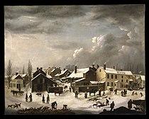 Francis Guy - Winter Scene in Brooklyn - Google Art Project