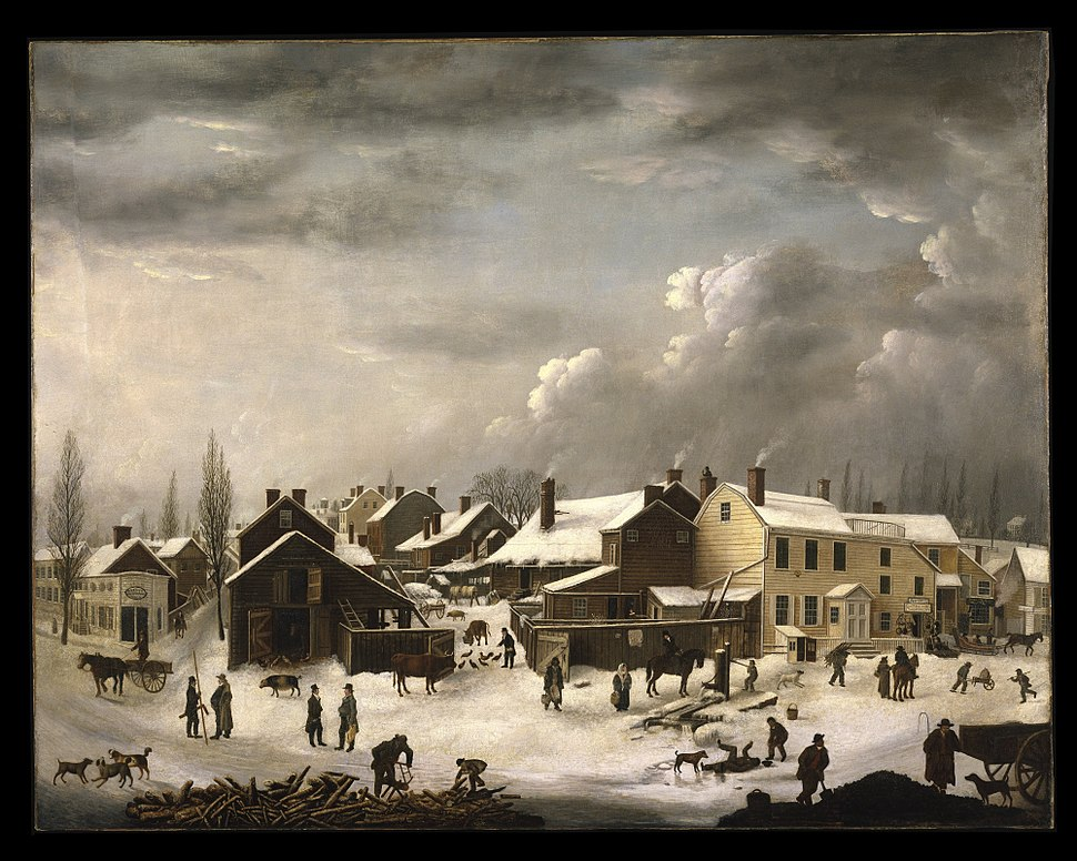 Francis Guy - Winter Scene in Brooklyn - Google Art Project