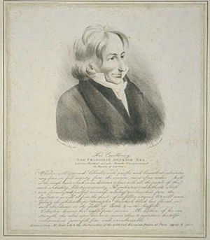 Francisco Antonio Zea - Lithograph by Rudolph Ackermann of His Excellency Ambassador Zea with the following extract of his letter inscribed.