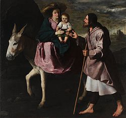 Francisco de Zurbarán, The Flight into Egypt, late 1630s. Oil on canvas, Seattle Art Museum.jpg