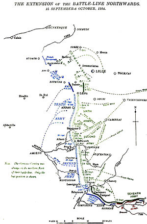 Battle of Arras (1914) - Franco-German flanking moves, 15 September – 8 October 1914