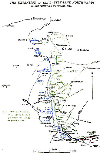 Race to the Sea - Franco-German flanking moves, 15 September – 8 October 1914