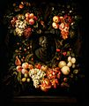 Frans van Everbroeck (attr) - A Garland of Fruit around the Sculpted Bust of a Girl.jpg