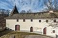 Frauenstein Schloss Frauenstein Auffahrtsrampe mit Vorwerk (Verwalterstoeckl) 14122016 5674.jpg