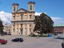 Fredrikkirken i det centrale Karlskrona