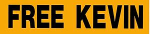 "Kevin Mitnick - Supporters from 2600 Magazine distributed ""Free Kevin"" bumper stickers"