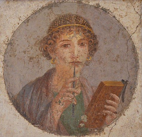 495px-Fresco_showing_a_woman_so-called_Sappho_holding_writing_implements,_from_Pompeii,_Naples_National_Archaeological_Museum_(14842101892).jpg (495×480)