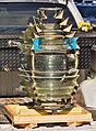 Fresnel lens after extraction from St. Marks NWR lighthouse 2014-11-20.jpg