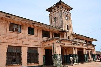 Railway stations in Ghana - Takoradi Railway Station.