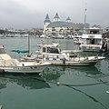 Fullon Hotel Tamsui Fishermen's Wharf and fishing boats - 2015.jpg