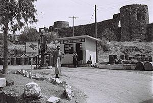 Vacuum Oil Company - Socony-Vacuum gas station, Tiberias 1946