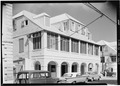 GENERAL VIEW OF FRONT (KING STREET) FACADE - Kongensgade 52 (House), 52 King Street, Christiansted, St. Croix, VI HABS VI,1-CHRIS,45-1.tif