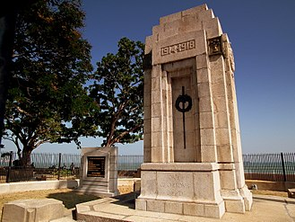 Esplanade, Penang - The Cenotaph, built to commemorate the Allied servicemen who lost their lives during World War I.