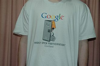 Google Code-in - One of the T-shirts offered as prizes by Google