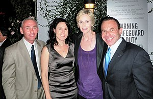 Jane Lynch - (l-r) Governor appointee Don Norte, Dr. Lara Embry, Jane Lynch, and Norte's husband, gay activist Kevin Norte, at Autum P-FLAG 2010's Charitable Event at The London Hotel, West Hollywood.