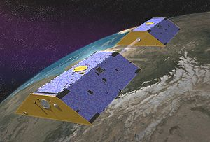 Satellite geodesy - Artist's conception of GRACE