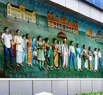 Mysore - Street Mural in Mysore