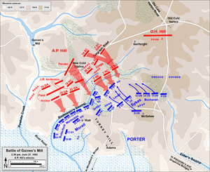 Battle of Gaines's Mill - A.P. Hill's attack