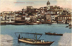 Galata in a 19th century postcard