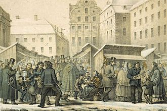 1859 in Sweden - Gamla stans julmarknad 1859