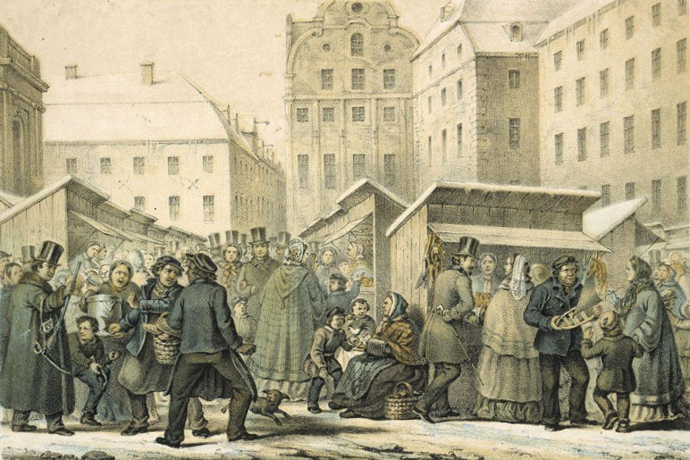 Gamla stans julmarknad 1859