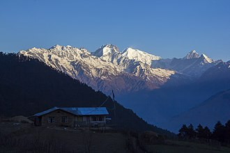 Ganesh Himal - Image: Ganesh Mountain range seen from Mu Kharka, Rasuwa. (By Saroj Pandey)