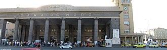 Bucharest North railway station - Image: Gara de Nord, Bucuresti panoramic b