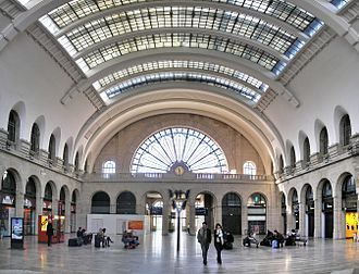 Gare de l'Est - View of the entrance foyer