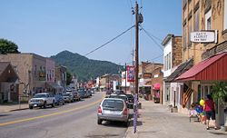 Elk Street (West Virginia Route 4) in downtown Gassaway in 2007